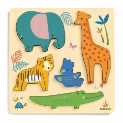 Puzzle lemn animale salbatice