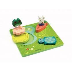 Puzzle relief Djeco - 1,2,3 Froggy