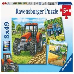 PUZZLE UTILAJE AGRICOLE, 3x49 PIESE