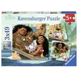 Puzzle Vaiana, 3X49 Piese