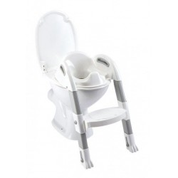 Reductor pentru toaleta cu scarita Kiddyloo Lily White