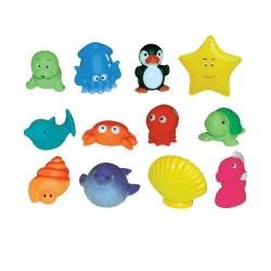 Set 12 jucarii de baie animale marine Ludi
