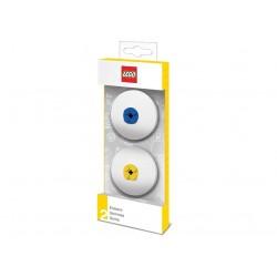 Set 2 radiere LEGO - albastru si galben (51518)