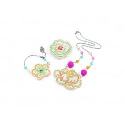 Set bijuterii brodate Flori Djeco