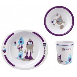 Set pentru masa din melamina Little Monster - Thermobaby