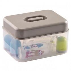 Sterilizator biberoane microunde / la rece Gri - Thermobaby