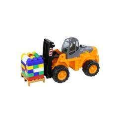 Stivuitor Powertruck cu palet de cuburi - Wader
