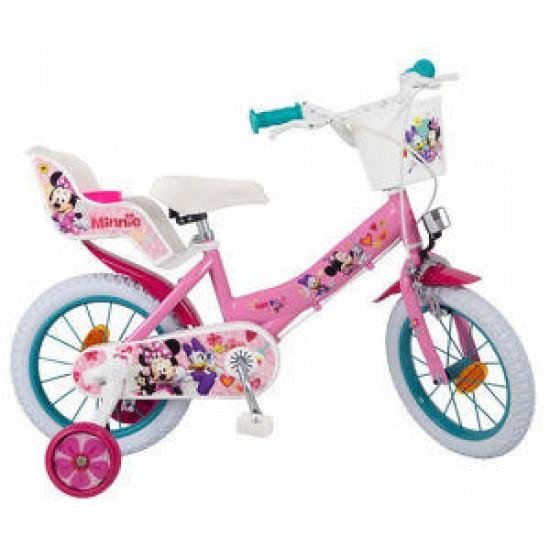 Bicicleta 14 inch Minnie Mouse Club House - Toimsa