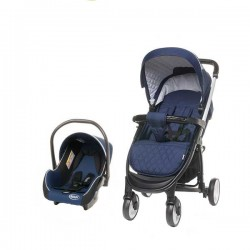 Carucior 2 in 1 Atomic Travel System 4Baby Navy Blue