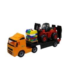 Trailer Powertruck cu stivuitor si palet de cuburi - Wader