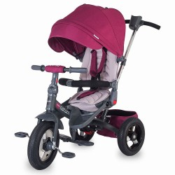 Tricicleta Coccolle Corso multifunctionala roti cauciuc - Violet