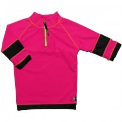 Tricou de baie pink black marime 80-92 protectie UV Swimpy